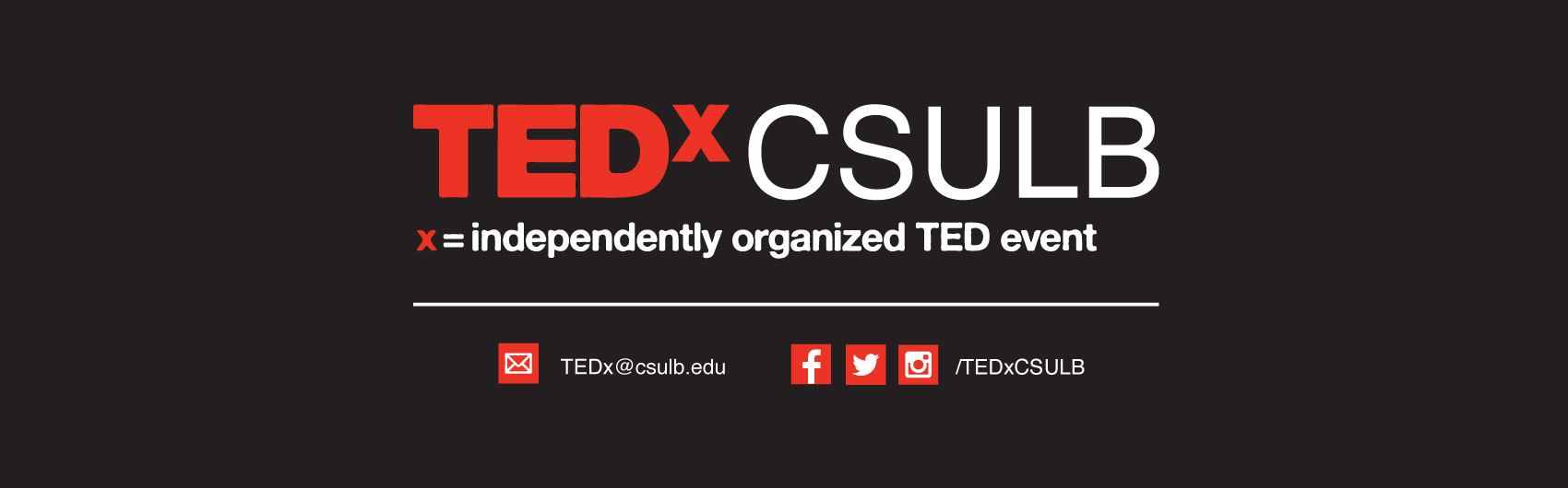 TEDx at CSULB Banner