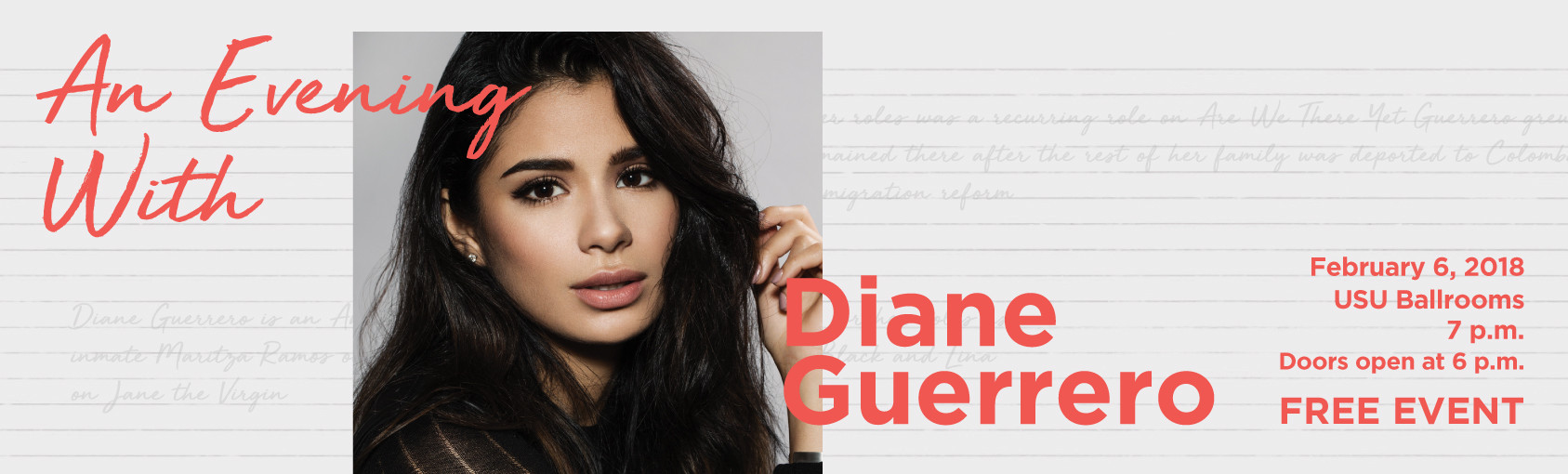 An Evening With Diane Guerrero banner