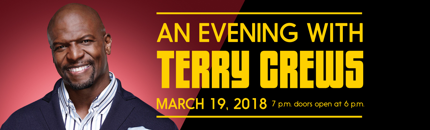 An Evening with Terry Crews banner