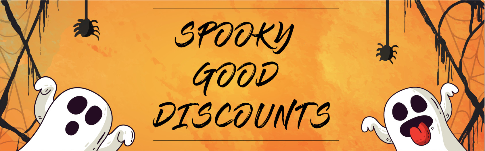 SPOOKY GOOD DISCOUNTS AT INFO & TICKET CENTER Banner
