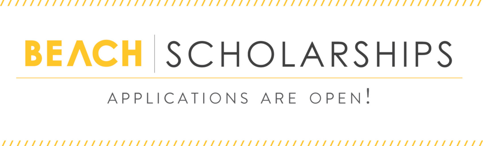Easily Apply for Beach Scholarships Bannner