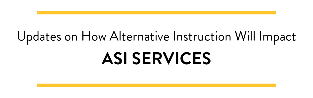 ASI, USU & Other Closure Updates banner