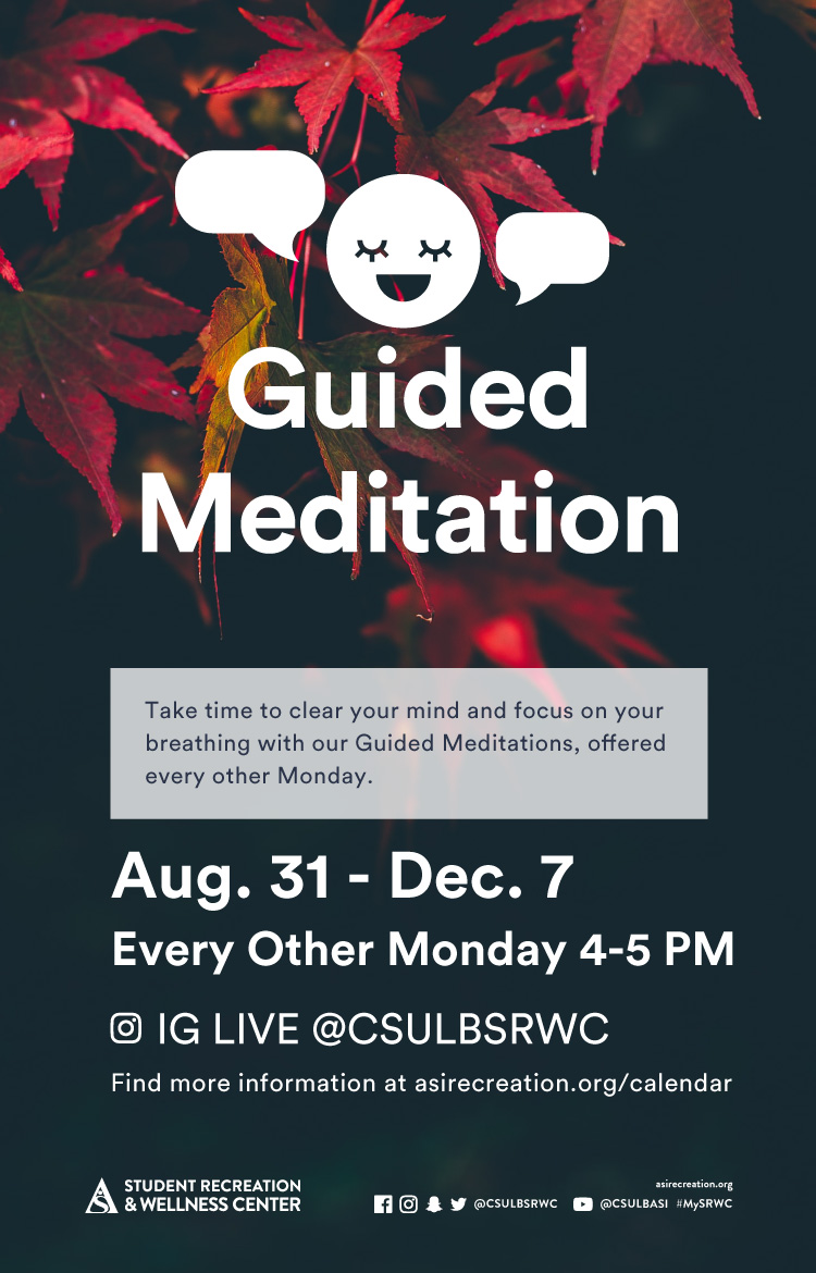 guided meditation poster
