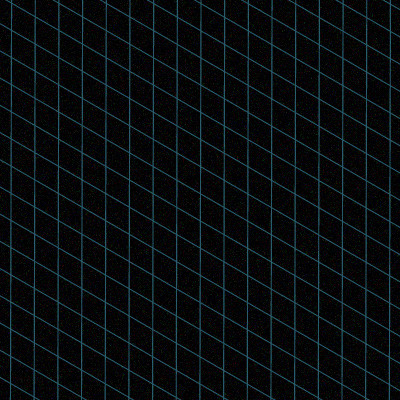 small black image with a light blue lines in a grid pattern