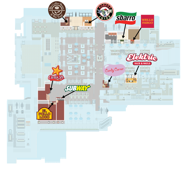 Map of food vendors