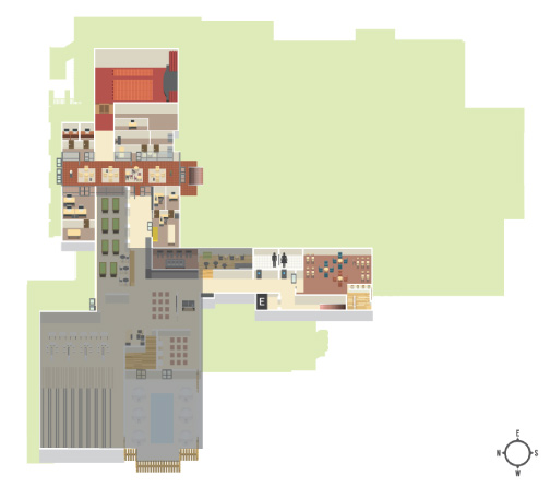 Map of Games Center location on first floor of the USU