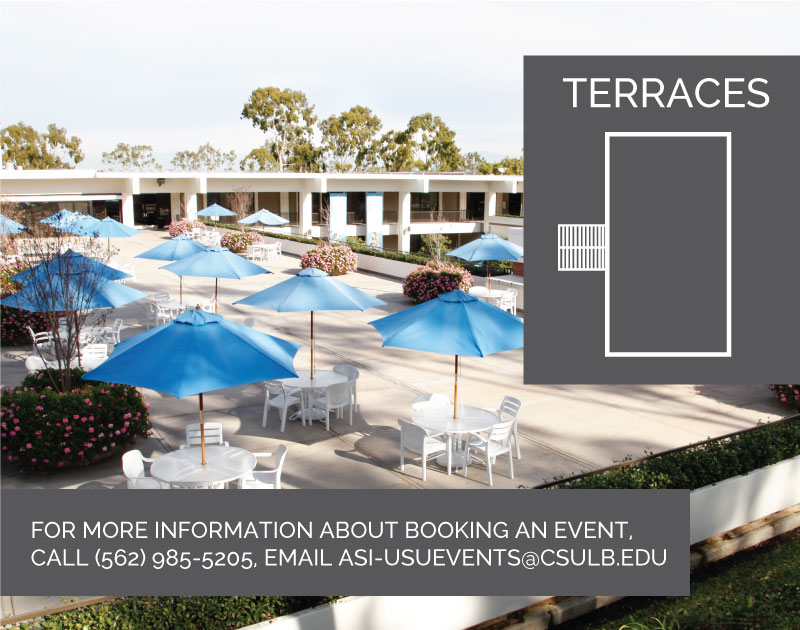 For more information about booking and event, call (562) 985-5205